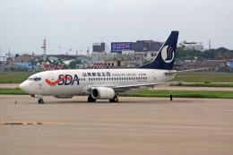 apphgさんが、廈門高崎国際空港で撮影した山東航空 737-36Qの航空フォト(飛行機 写真・画像)