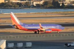 かずまっくすさんが、サンフランシスコ国際空港で撮影したサウスウェスト航空 737-7H4の航空フォト(飛行機 写真・画像)