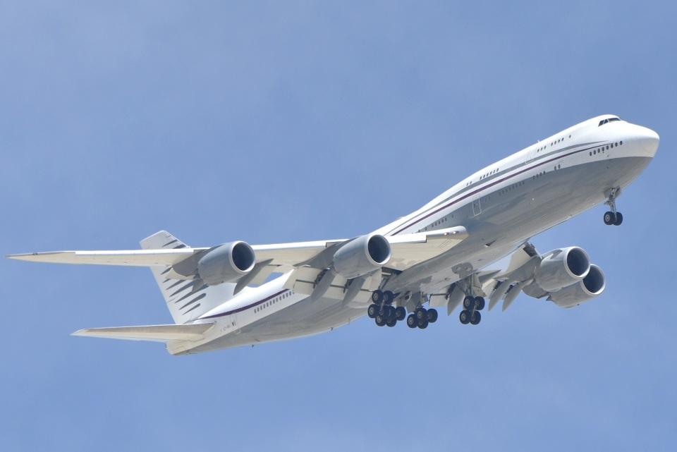 cornicheさんのカタールアミリフライト Boeing 747-8 (A7-HBJ) 航空フォト