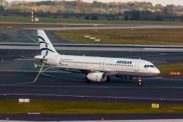 jombohさんが、デュッセルドルフ国際空港で撮影したエーゲ航空 A320-232の航空フォト(飛行機 写真・画像)