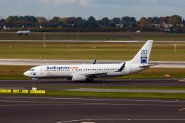 jombohさんが、デュッセルドルフ国際空港で撮影したサンエクスプレス 737-8CXの航空フォト(飛行機 写真・画像)