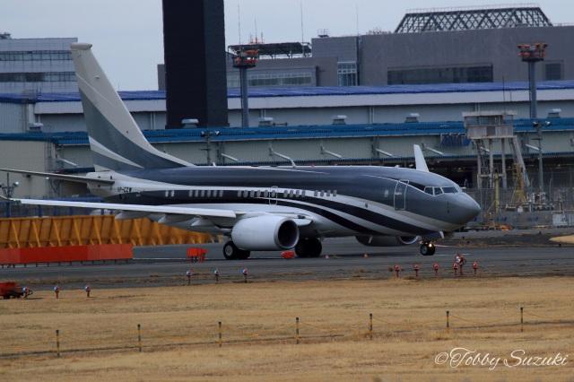 Tobby Suzukiさんが、成田国際空港で撮影したケイマン諸島企業所有 737-7JW BBJの航空フォト(飛行機 写真・画像)
