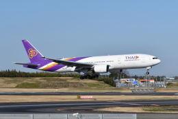ポン太さんが、成田国際空港で撮影したタイ国際航空 777-2D7/ERの航空フォト(飛行機 写真・画像)