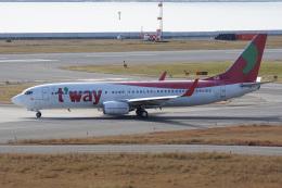 神宮寺ももさんが、関西国際空港で撮影したティーウェイ航空 737-8KGの航空フォト(飛行機 写真・画像)