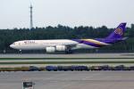 apphgさんが、北京首都国際空港で撮影したタイ国際航空 A340-541の航空フォト(飛行機 写真・画像)