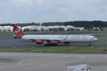 kumagorouさんが、成田国際空港で撮影したヴァージン・アトランティック航空 A340-642の航空フォト(飛行機 写真・画像)