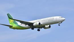 パンダさんが、成田国際空港で撮影した春秋航空日本 737-81Dの航空フォト(飛行機 写真・画像)