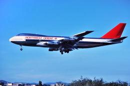 パール大山さんが、伊丹空港で撮影したノースウエスト・オリエント航空 747-251Bの航空フォト(飛行機 写真・画像)
