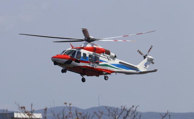 EosR2さんが、枕崎ヘリポートで撮影した鹿児島県防災航空隊 AW139の航空フォト(飛行機 写真・画像)