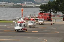 かぐさんが、横浜ヘリポートで撮影した横浜市消防航空隊 AW139の航空フォト(飛行機 写真・画像)