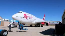 乗った気分さんが、モハーヴェ空港で撮影したヴァージン・ギャラクティック 747-41Rの航空フォト(飛行機 写真・画像)