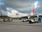 南国の防人さんが、アントニオ・B・ウォン・パット国際空港で撮影した日本アジア航空 747-346の航空フォト(飛行機 写真・画像)