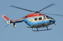 ブルーさんさんが、東京ヘリポートで撮影した川崎市消防航空隊 BK117B-2の航空フォト(飛行機 写真・画像)