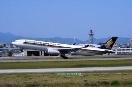 キットカットさんが、福岡空港で撮影したシンガポール航空 A330-343Xの航空フォト(飛行機 写真・画像)