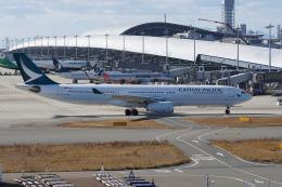 神宮寺ももさんが、関西国際空港で撮影したキャセイパシフィック航空 A330-343Xの航空フォト(飛行機 写真・画像)
