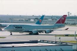 rokko2000さんが、関西国際空港で撮影したノースウエスト航空 747-451の航空フォト(飛行機 写真・画像)