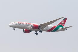 01yy07さんが、スワンナプーム国際空港で撮影したケニア航空 787-8 Dreamlinerの航空フォト(飛行機 写真・画像)