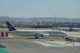 TUILANYAKSUさんが、マドリード・バラハス国際空港で撮影したサウディア 787-9の航空フォト(飛行機 写真・画像)
