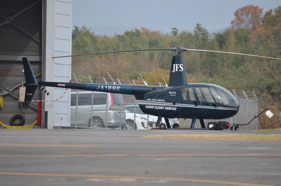 ブルーさんさんの温知会 Robinson R44 (JA189E) 航空フォト