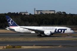 採れたてほしいもさんが、成田国際空港で撮影したLOTポーランド航空 787-8 Dreamlinerの航空フォト(飛行機 写真・画像)