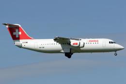 Hariboさんが、チューリッヒ空港で撮影したスイスインターナショナルエアラインズ Avro 146-RJ100の航空フォト(飛行機 写真・画像)