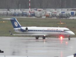 cassiopeiaさんが、フランクフルト国際空港で撮影したベラヴィア航空 CL-600-2B19 Regional Jet CRJ-100ERの航空フォト(飛行機 写真・画像)