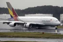 planetさんが、成田国際空港で撮影したアシアナ航空 A380-841の航空フォト(飛行機 写真・画像)