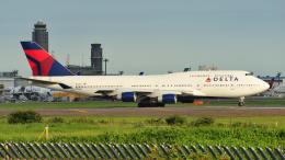 saoya_saodakeさんが、成田国際空港で撮影したデルタ航空 747-451の航空フォト(飛行機 写真・画像)