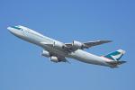 ちゃぽんさんが、成田国際空港で撮影したキャセイパシフィック航空 747-867F/SCDの航空フォト(飛行機 写真・画像)