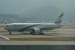 LEGACY-747さんが、香港国際空港で撮影したエル・アル航空 777-258/ERの航空フォト(飛行機 写真・画像)