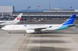 冷やし中華始めましたさんが、関西国際空港で撮影したガルーダ・インドネシア航空 A330-343Xの航空フォト(飛行機 写真・画像)