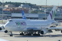 TUILANYAKSUさんが、マドリード・バラハス国際空港で撮影したワモス・エア 747-412の航空フォト(飛行機 写真・画像)