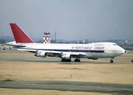 パンサーRP21さんが、横田基地で撮影したノースウエスト・オリエント航空 747の航空フォト(飛行機 写真・画像)