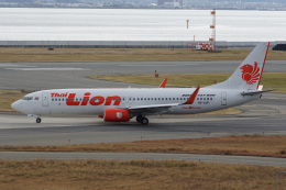 神宮寺ももさんが、関西国際空港で撮影したタイ・ライオン・エア 737-8GPの航空フォト(飛行機 写真・画像)