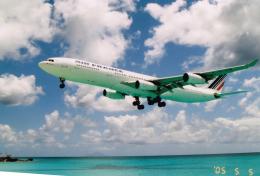 JA8037さんが、プリンセス・ジュリアナ国際空港で撮影したエールフランス航空 A340-313Xの航空フォト(飛行機 写真・画像)
