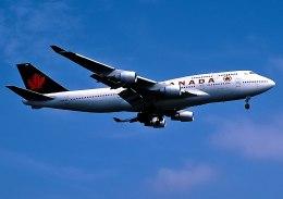 パール大山さんが、ロンドン・ヒースロー空港で撮影したエア・カナダ 747-433Mの航空フォト(飛行機 写真・画像)