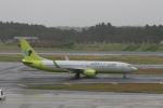 武田菱さんが、成田国際空港で撮影したジンエアー 737-8B5の航空フォト(飛行機 写真・画像)