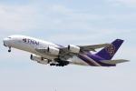 青春の1ページさんが、関西国際空港で撮影したタイ国際航空 A380-841の航空フォト(飛行機 写真・画像)