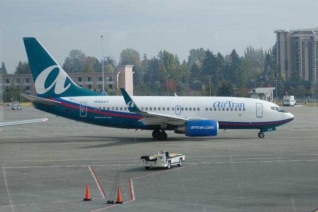 ITM58さんが、シアトル タコマ国際空港で撮影したエアトラン航空 737-76Nの航空フォト(飛行機 写真・画像)