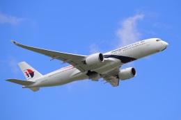 飛行機ゆうちゃんさんが、成田国際空港で撮影したマレーシア航空 A350-941の航空フォト(飛行機 写真・画像)