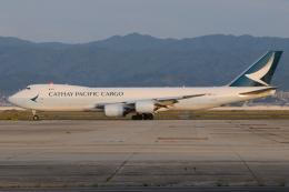 きんめいさんが、関西国際空港で撮影したキャセイパシフィック航空 747-867F/SCDの航空フォト(飛行機 写真・画像)