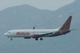 ガペ兄さんが、香港国際空港で撮影したマリンド・エア 737-8GPの航空フォト(飛行機 写真・画像)