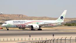 誘喜さんが、マドリード・バラハス国際空港で撮影したアエロメヒコ航空 787-9の航空フォト(飛行機 写真・画像)