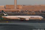 kina309さんが、羽田空港で撮影したキャセイパシフィック航空 777-367/ERの航空フォト(飛行機 写真・画像)