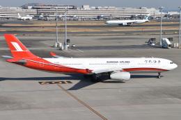 turenoアカクロさんが、羽田空港で撮影した上海航空 A330-343Xの航空フォト(飛行機 写真・画像)