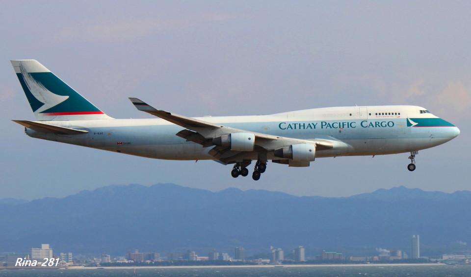RINA-281さんのキャセイパシフィック航空 Boeing 747-400 (B-KAE) 航空フォト