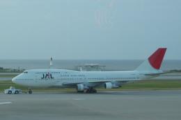 しかばねさんが、那覇空港で撮影した日本航空 747-146B/SR/SUDの航空フォト(飛行機 写真・画像)