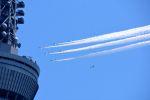 まいけるさんが、東京・浅草上空で撮影した航空自衛隊 T-4の航空フォト(飛行機 写真・画像)