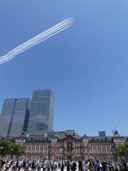 蒲田っ子さんが、東京駅で撮影した航空自衛隊 T-4の航空フォト(飛行機 写真・画像)