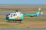 ブルーさんさんが、新潟空港で撮影した東北エアサービス Bo 105CBS-4の航空フォト(飛行機 写真・画像)